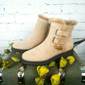 NIB Franco Sarto water resistant suede ankle boots